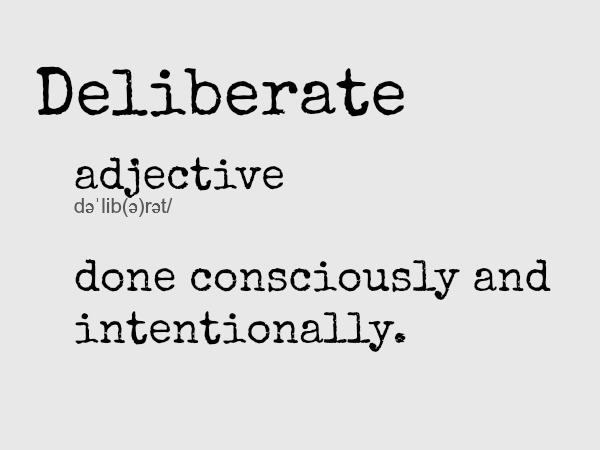 deliberate-definition
