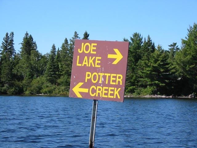 joe lake sign