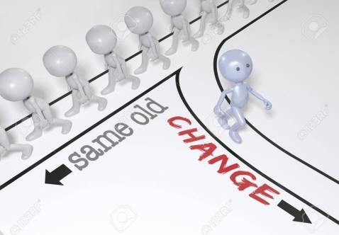 Person choice change go new path