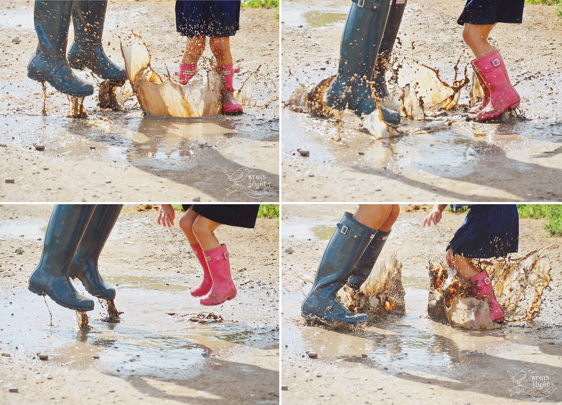Mother-Daughter-Puddle-Jumping-Photo-Shoot